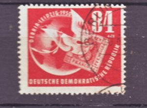 J22446 Jlstamps 1950 germay ddr set of 1 used #b21 dove