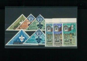 Qatar SC# 113-113G & Michel Block 9B. MNH. Cat. 223.00. Better Item