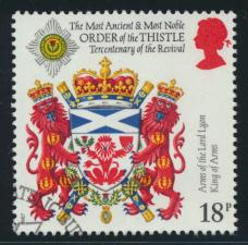 Great Britain  SG 1363 SC# 1184 Used / FU with First Day Cancel - Thistle ord...