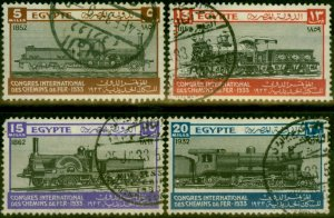 Egypt 1933 Railway Congress Set of 4 SG189-192 Good Used