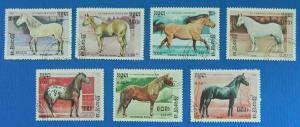 Cambodia, Horses, 1986, Asia, (59-T)