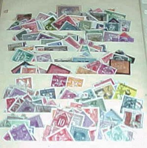 YUGOSLAVIA  156   STAMPS  & 98 DIFF. BACK OF BOOK 1920's-1960's USED