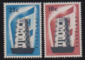 Netherlands 1956 SC 368-69 MNH