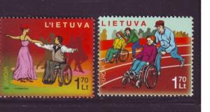 Lithuania Sc811-2 2006 Europa Wheelchairs stamps NH