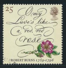 Great Britain  SG 1902 SC# 1640 Used / FU with First Day Cancel - Robert Burns