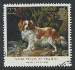Great Britain  SG 1531 SC# 1345 Used / FU with First Day Cancel - Dogs - Stubbs