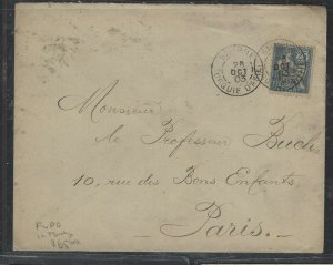 TURKEY COVER (PP0605B)  1903 FRENCH OFFICES IN 25C COVER  SMYRNE TO FRANCE