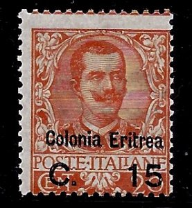 Eritrea # 34, Mint Hinge. CV $ 80.00