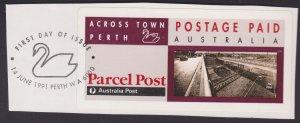 AUSTRALIA - Parcel Post Postage Paid Label - Across Town Perth MNH