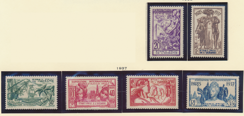 French Polynesia Stamps Scott #117 To 122, Mint Never Hinged - Free U.S. Ship...