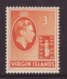 1938 Br Virgin Is 3d Chalk Paper Mint