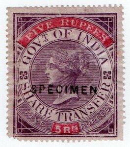 (I.B) India Revenue : Share Transfer 5R (specimen)
