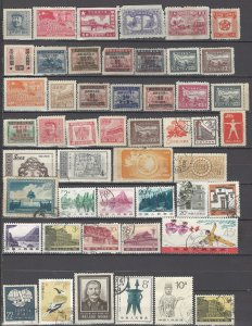 COLLECTION LOT OF # 935 CHINA PEOPLE's REPUBLIC 49 STAMPS 1949+