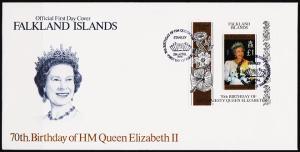 Falkland Islands. 1996 FDC £1 Miniature Sheet.S.G.MS765  Fine Used