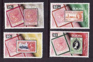 St Kitts-Sc#385-8-unused NH set-Stamp on Stamp-please note the