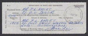PAPUA NEW GUINEA 1974 Registered letter receipt - SAIDOR cds................F491
