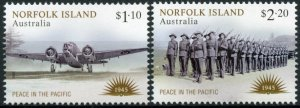 Norfolk Island Military Stamps 2020 MNH WWII WW2 VJ Day Peace in Pacific 2v Set