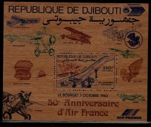 Djibouti C187 MNH s/s Aviation SCV25