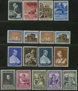 VATICAN Sc#375-403 Eight Sets 1964 Year Complete Mint OG NH