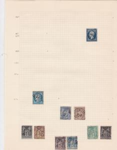france early stamps on  album page ref r11878