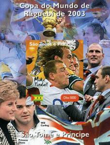 Sao Tome & Principe 2004 Rugby Mike Tindall Deluxe s/s mnh.vf