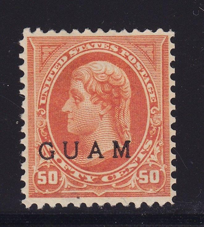 Guam # 11 F-VF original gum mint with nice color cv $ 350 ! see pic !