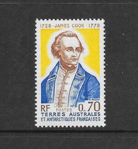 FRENCH SOUTHERN ANTARCTIC TERRITORIES #66 JAMES COOK  MNH