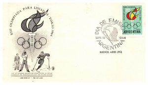 Argentina, Worldwide First Day Cover, Olympics