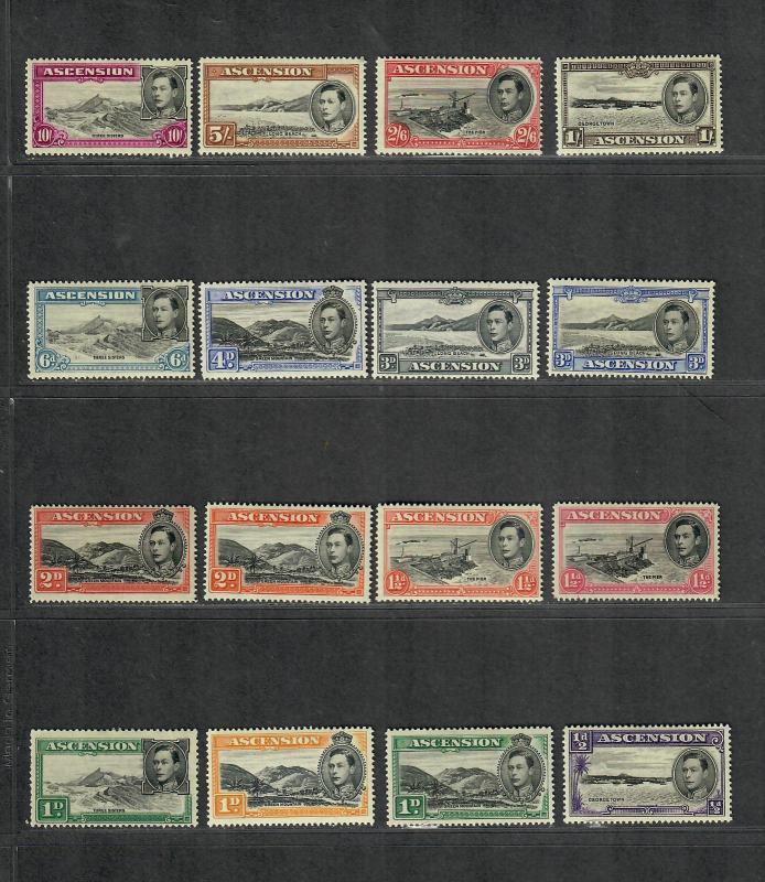 Ascension Sc#40-41A, 41d-44Bd, 45-6, 47a, 48a, 49a M/H/VF, Cv. $285.10