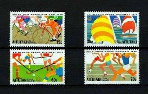 AITUTAKI - 1976 - OLYMPICS - CYCLING - SAILING ++ MONTREAL - MINT - MNH SET!