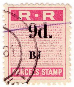 (I.B) Rhodesia Railways : Parcels Stamp 9d (Banket Junction)