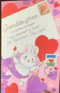 HNLP Hideaki Nakano Greeting Card 2813 Granddaughter No Extra Postage Valentine