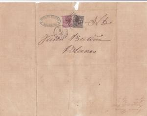 Spain 19th centuary stamps cover Ref 8413