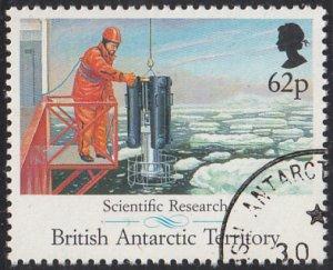 British Antarctic Territory 1991 used Sc #187 62p Scientific research