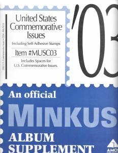 Minkus United States Commemoratives MUSC03 Supplement 2003