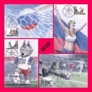 TRANSNISTRIA 2018 Sport Football Soccer World Cup FIFA Russia 4 MaxiCards Cards