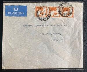 1938 Jerusalem Palestine Airmail Cover To Saalfeld Germany