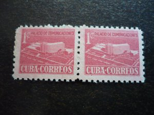 Stamps - Cuba - Scott# RA34 - Mint Hinged Single Stamp in Pairs