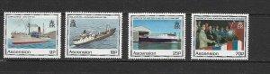 ASCENSION ISLAND - 1990 SHIPS - SCOTT 493 TO 496 - MNH