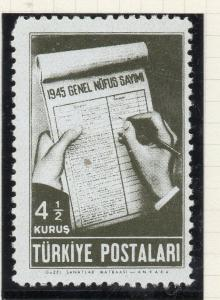 Turkey 1945 Early Issue Fine Mint Hinged 4.5k. NW-05197