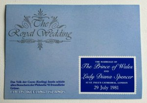 MCK97) Cocos Keeling Islands 1981 The Royal Wedding Stamp Pack MUH