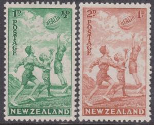 New Zealand - 1940 Children At Play mint Sc. #B16-B17