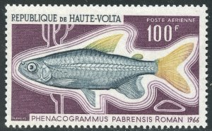 Burkina Faso Scott C66 MVFNHOG - 1969 Fish Type - SCV $2.50