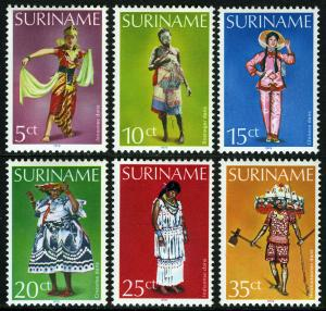 Surinam 524-529, MNH. Dancing Costumes, 1979