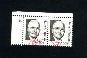USA #1862   6 used pair 1980-85 PD .12