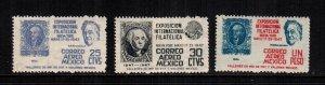 Mexico  C167-C169   MNH   cat $ 3.00 222