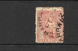 BARBADOS 1871    4d   BRITANNIA   FU      SG 49