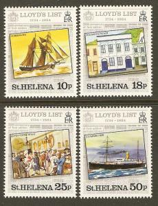 St. Helena #412-15 NH Lloyds List