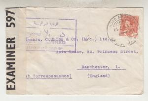 IRAQ, 1942 Censored cover, 20f. Baghdad to GB.