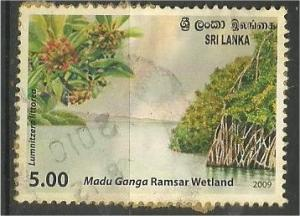 SRI LANKA, 2009, used 5r, Madu Ganga Ramsar Wetlands Scott